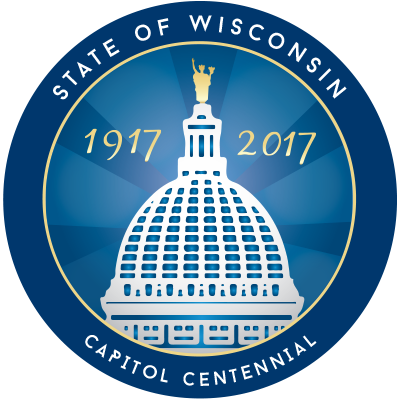 Wisconsin Capitol 100th Anniversary logo